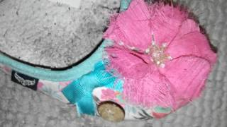 Well Worn and Smelly Trashed Ballerina Slippers