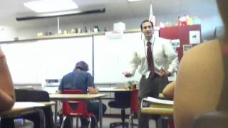 Substitute teacher rapping in class