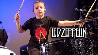 ROCK AND ROLL (6 year old Drummer) Drum Cover by Avery Drummer Molek