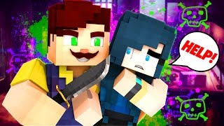 HELLO NEIGHBOR - HE'S SO CREEPY! WE FIGHT TO THE DEATH! (Minecraft Roleplay)