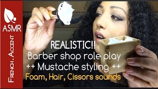 Men's shave & mustache styling ✂ Asmr roleplay ✂ gentle whispering 💫 [french accent]