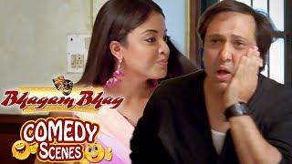Tanushree Dutta Slaps Govinda - Comedy Scene - Bhagam Bhag(2006)