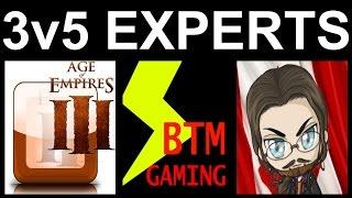 Age of Empires III: 3v5 EXPERTS [p3] [w/ BigThunderMan & MahDryBread]