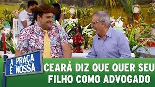 Matheus Ceará diz que quer seu filho como advogado   A Praça É Nossa (15/12/16)