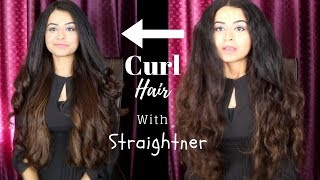 How To Curl Your Hair With A Flat Iron | Long Lasting | Curling with a Straightener