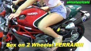 2013 DUCATI Monster 796 with Termignoni Exhaust and a Sexy Girl Next Door Hottie