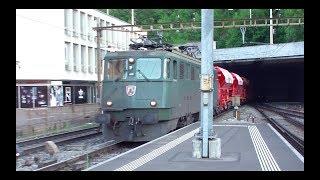"""SBB Ae 6/6 """"11488 Mendriso"""" mit Schotterzug in Baden"""