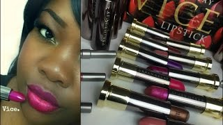 Urban Decay Vice Lipstick Collection Swatches | Dark Skin