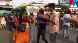 Girl beaten by woman not her mother while flash mob in Kannur| Manorama News