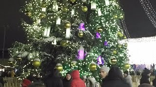 Ukrainian Christmas Tree & Japanese Sophia Cathedral in Kiev, Ukraine. Why?