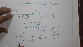 Instantaneous current and voltage in bangla