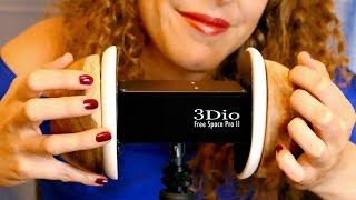ASMR Wooden Bowl Ear Cupping, Tapping, Scratching 3Dio, w/ Ear Massage & Binaural Whispering