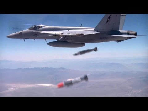 F-16, F-15 Weapon Assembly, Takeoff, and Bombs Drop.