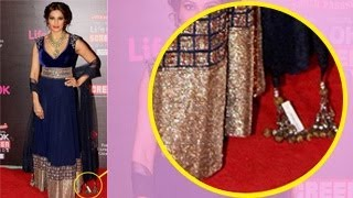 Bipasha Basu's SHOCKING Wardrobe MALFUNCTION at Life OK Screen Awards 2014