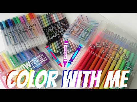 COLOR WITH ME | Tools For Adult Coloring Books