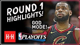 GOD MODE! LeBron James Full ROUND 1 Highlights vs Indiana Pacers | All GAMES - 2018 Playoffs