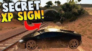 SECRET EXP SIGN LOCATION & TRAIN STOPPING?! - Forza Horizon 3 - Hot Wheels DLC Gameplay  & FUNNY!