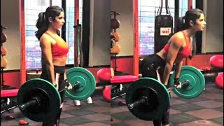 Katrina Kaif Weight Lifting Workout Video