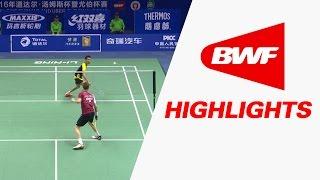 TOTAL BWF Thomas & Uber Cup Finals 2016 | Badminton SF-Thomas Cup-MAL vs DEN-Highlights