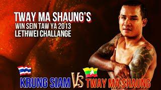 Tway Ma Shaung  63 kg Vs Krung / Petchtae Tor, MaxMuayThai 79 kg  -  Myanmar Lethwei, Lekkha Moun