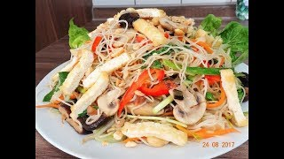 Món Chay - Chia sẻ cách làm món Bún Gạo Xào Chay by Vành Khuyên