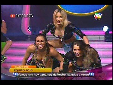 COMBATE Desafio Baile Equipo Rojo Paloma Nathaly y Yidda 16 08 13
