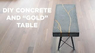 DIY Concrete and Gold Table | Kintsugi