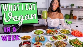 What I Eat in a Week! Vegan, Easy & Healthy Recipes