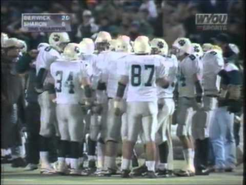 12 8 1995 PIAA Class AAA State Title Game Berwick Bulldogs Vs. Sharon Tigers FULL GAME