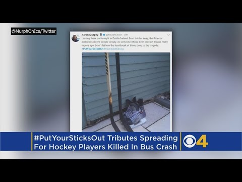 #PutYourSticksOut: After Bus Crash, Mourners Pay Tribute To Humboldt Team With Hockey Sticks