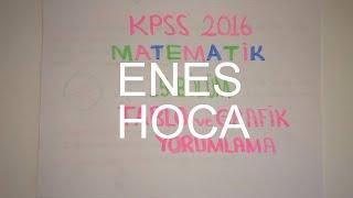 97) TABLO ve GRAFİK YORUMLAMA-I (KPSS Matematik 2016) 15. Bölüm 1.Parça