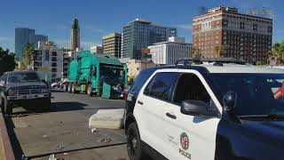 Bulldozing Homeless Homes via LAPD/City of L.A - RAW AND UNCUT
