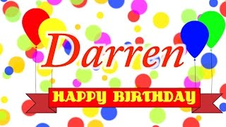 Happy Birthday Darren Song