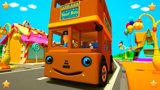 Brown Wheels on the Bus | Kindergarten Nursery Rhymes & Songs for Kids | Little Treehouse S03E117