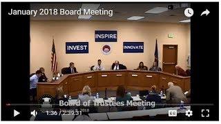 January 2018 Board Meeting