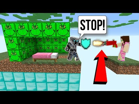 Minecraft SURPRISE GRINCH LUCKY BLOCK BEDWARS Modded Mini Game