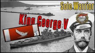 8 Kills, Solo Warrior, King George V - World of Warships