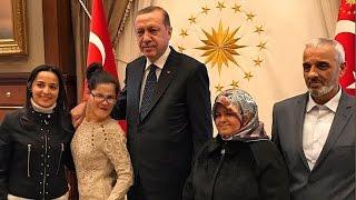 Cumhurbaşkanı Erdoğan, Gülşah Yağmur Yazıcı ve ailesi ile görüştü