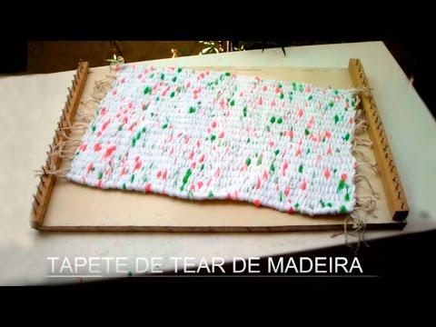 Artesanato Tapete de tear de madeira Craft Mat wooden loom Artesanía Mat telar de madera