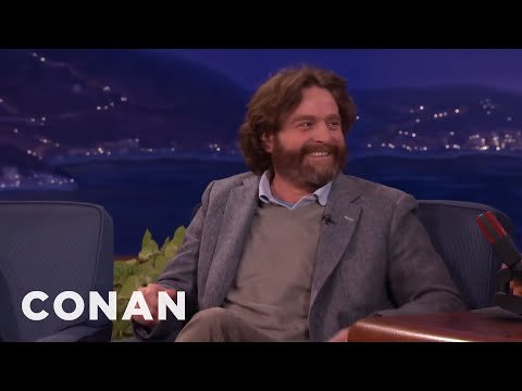 Zach Galifianakis Question He Refused To Ask President Obama CONAN on TBS