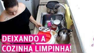 LIMPEZA RÁPIDA DA COZINHA | ROTINA DE DONA DE CASA | SPEED CLEANING