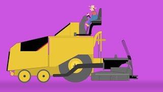 Asphalt Paver | Formation & Uses | Video For Kids