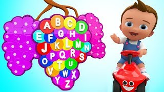 Little Baby Learning Alphabets A-Z with Grapes Shaped Puzzle ToySet 3D Kids Kindergarten Educational
