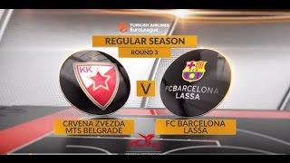 Highlights: Crvena Zvezda mts Belgrade-FC Barcelona Lassa
