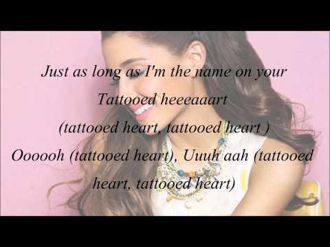 Ariana Grande Tattooed Heart with Lyrics