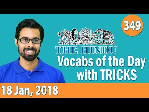 Xxx Mp4 8 00 AM Daily The Hindu Vocabulary With Tricks 18th Jan 2018 Day 349 3gp Sex