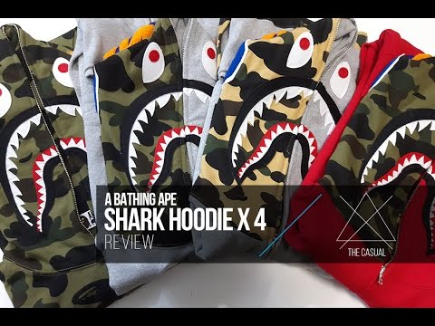 Bape Shark Hoodie Review x 4, Legit Check Tips, & Sizing