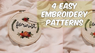 Embroidery for Beginners: 4 Easy Patterns