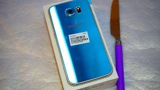 Samsung Galaxy S6 Blue Topaz Greek Unboxing