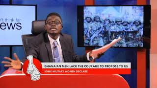 Lil Win on Military Women - Don-t Think Far News on Adom TV (23-9-17)